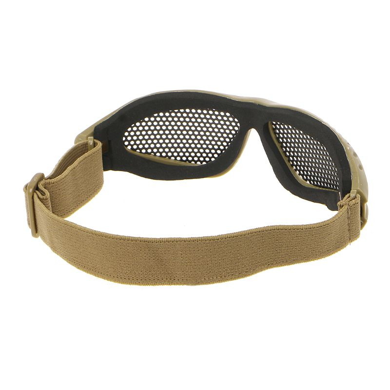 Tactical Motorcycle Airsoft Eye Protection Goggles Anti Fog Mesh Metal Glasses Adjustable Head Strap  Rotect Sand And Insects