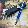 Fuliwen ручка высокого качества акриловая крышка новая синяя авторучка + ручка сумка офисный подарок