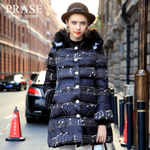 Luxury Raccoon Fox Fur Hood winter jacket women parka natural real fur coat for women thick soft abrigos de piel mujer 2016