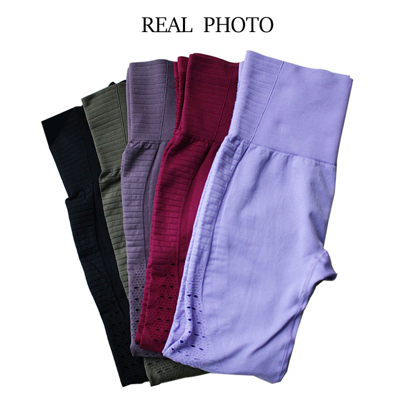 SALSPOR Women Yoga Pants Sports Running Sportswear Stretchy Fitness Leggings Gym Seamless Tummy Control Compression Tights Pants 5