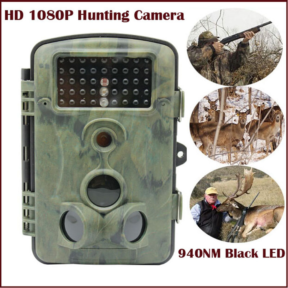HD 1080P Hunting Camera 940nm Black Invisible IR Led 12MP Animals Photo Traps Trail Wildlife CameraHD 1080P Hunting Camera 940nm Black Invisible IR Led 12MP Animals Photo Traps Trail Wildlife Camera