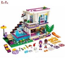 644 шт. поп-звезда Ливи дом кирпичи Emma Mia цифры строительные блоки для девочек серии игрушки для детей Compatibl legoing Friends