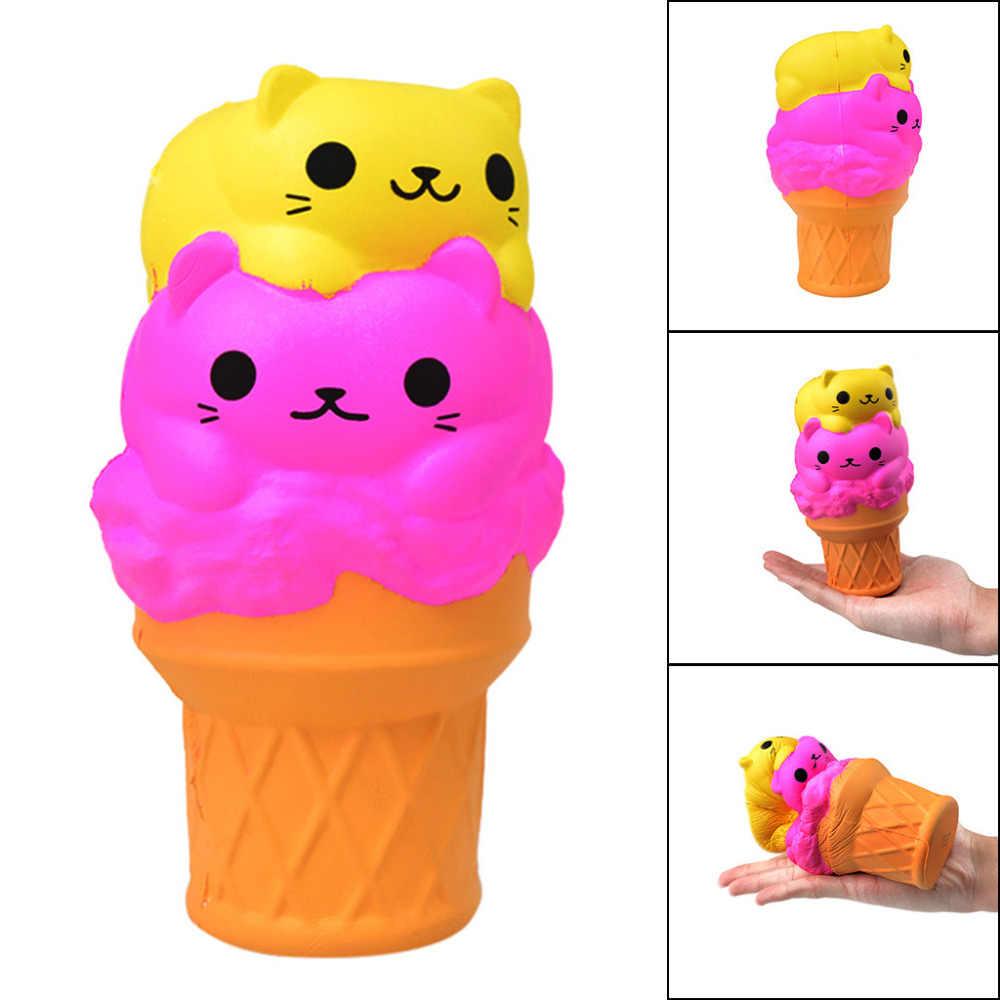 Jouets spongieux enfants chat lent crème glacée Squish lente augmentation Squishies jouet Squishies parfumé soulagement du Stress jouets FEB13