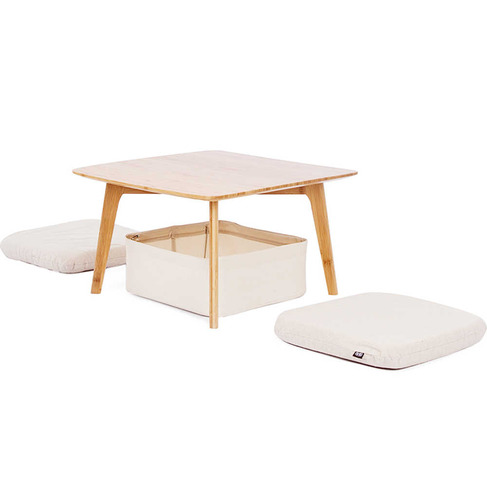 zen s bamboo coffee table with 2