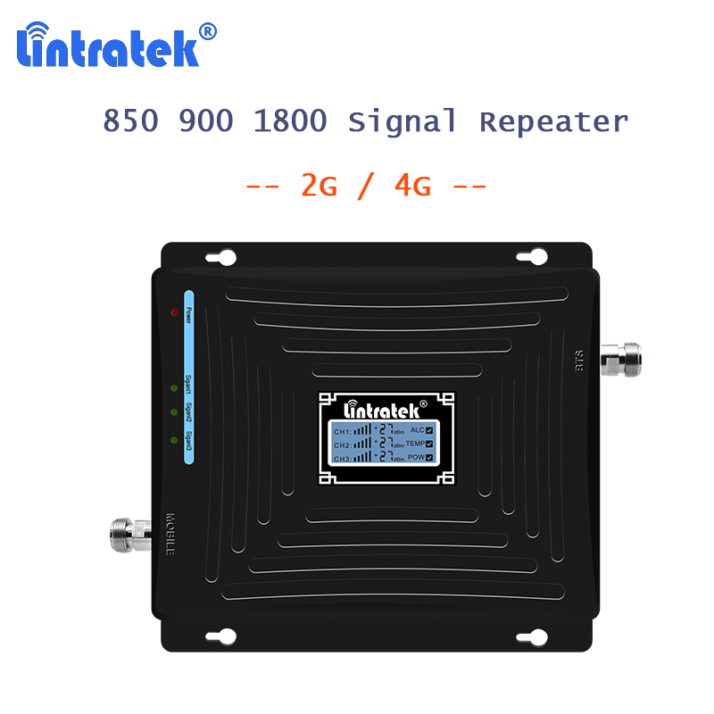 850/900/1800mhz Repetidor 2G/4G Mobile Cellular Signal Booster 2G Repeater CDMA 850/DCS 1800 +900 Repetidor With LCD Display 40