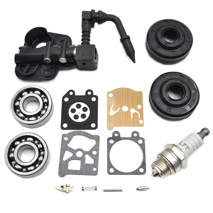 Oil Drive Pump Infeed Crankshaft Oil Seal Bearing Carburetor Repair Kit For Partner 350 351 370 371 420 Chainsaw high quality carburetor carb carby for husqvarna partner 350 351 370 371 420 chainsaw poulan spare parts walbro 33 29