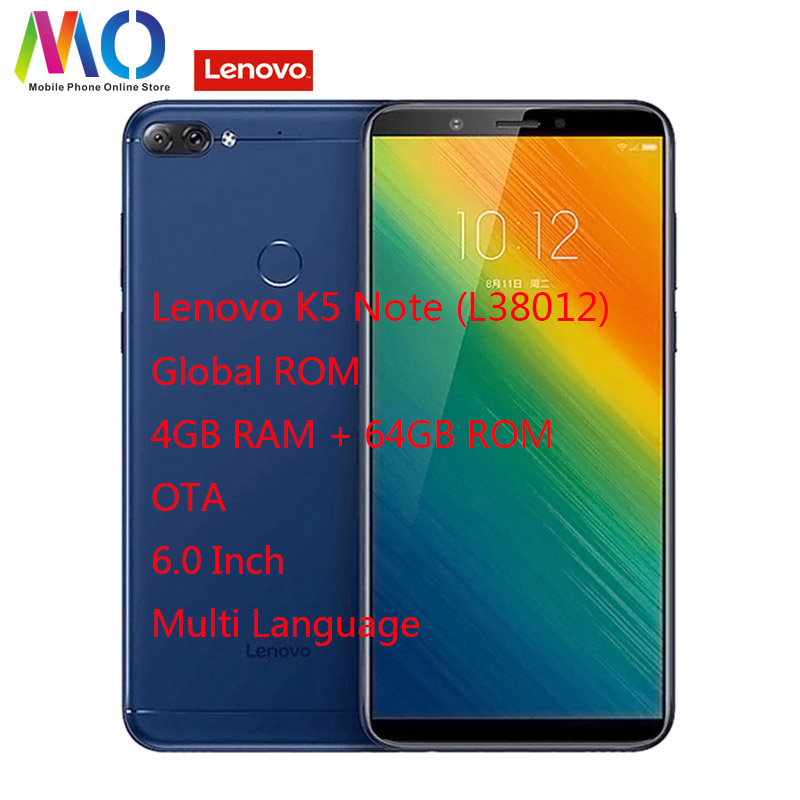 Lenovo K9 Note Global Version 4GB RAM 64GB ROM 6 0 Android 8 1 Cell Phone