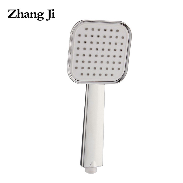 Edge Covering Chrome Handheld Bath Showerheads Bath Shower Faucets Toilet  Bathroom Abs Shower Head Square Spray
