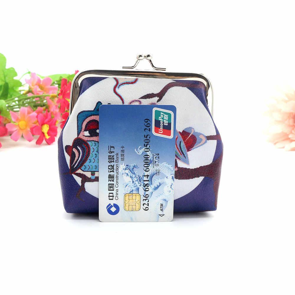 Carteira Bonito da Coruja das mulheres Titular do Cartão Bolsa Da Moeda Fêmea Linda Bolsa Chave Saco de Embreagem Carteira Pequena Para As Mulheres Meninas carteira