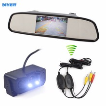 DIYKIT Wi-fi Auto Parking Monitor System Waterproof Parking Radar Sensor Automobile Digital camera + four.three inch Automobile Mirror Monitor