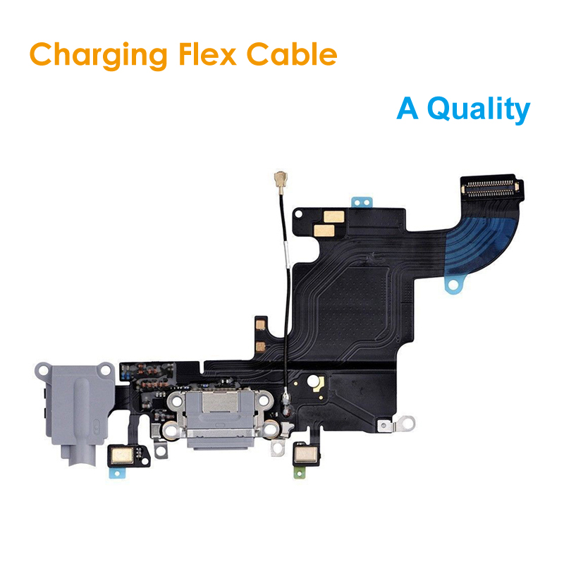 A Quality Replacement Charging Flex Cable for <font><b>iPhone</b></font> <font><b>6S</b></font> 4.7 Headphone Jack USB Audio MIC Port Socket Dock <font><b>Connector</b></font> for iPhone6S image