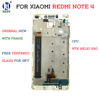Global LCD Display Touch Screen Digitizer Assembly For Xiaomi Redmi Note 4 4X MTK Helio X20