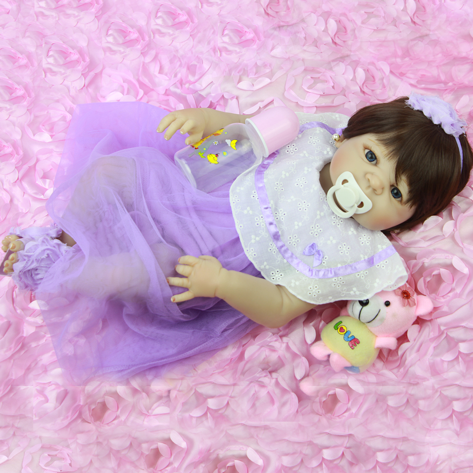 New Fashion Full Silicone Reborn Baby Girl 23'' 57 cm Vinyl Body Baby Dolls Lifelike Princess Can Bathe with Bebe Bonecas Toy 22inch 55cm silicone vinyl reborn baby dolls fashion bebe princess reborn girl dolls toys with red dress set bonecas