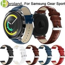купить Genuine leather watchband For Samsung Gear Sport 20mm Replacement bracelet Wristband Wrist Strap for Samsung Gear S2 Accessories по цене 227.31 рублей