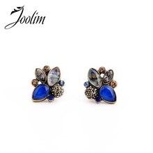 JOOLIM Jewelry Wholesale/2015 Cute Vintage Blue Stud Earring Fashion Earring Women Earring Good Quality