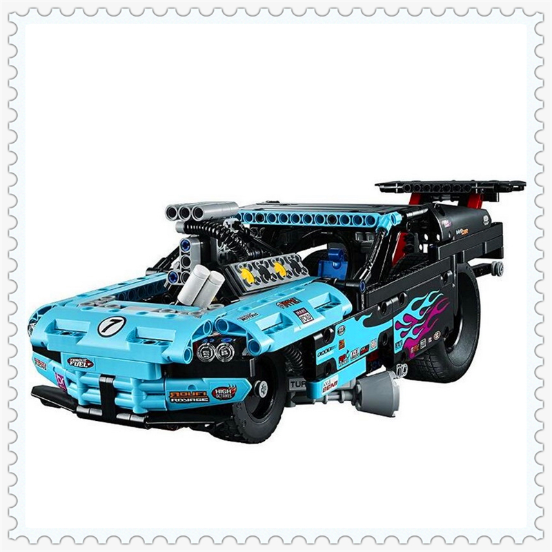 647Pcs Technic City Series Drag Racer Car Model Building Block Toys LELE 38000 Educational Gift For Children Compatible Legoe sluban 0372 block compatible legoe aviation city aircraft repair shop model 596pcs educational building toys for children