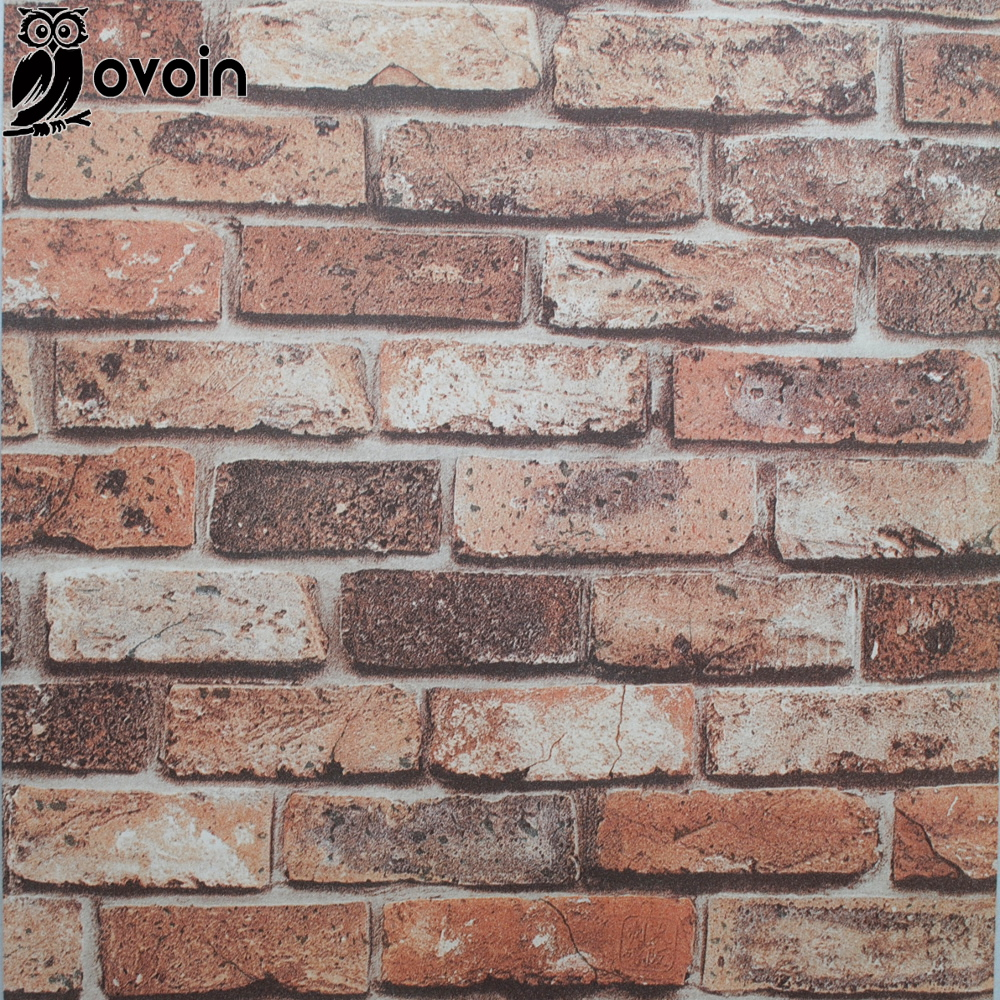 Red Brick Wallpaper Part - 49: Aliexpress.com : Buy PVC Chinoiserie Retro Sandstone Wall Brick Kitchen  Wallpaper Natural Vinyl 3D Effect Red Brick Wallpaper Bathroom,Dinning Room  From ...
