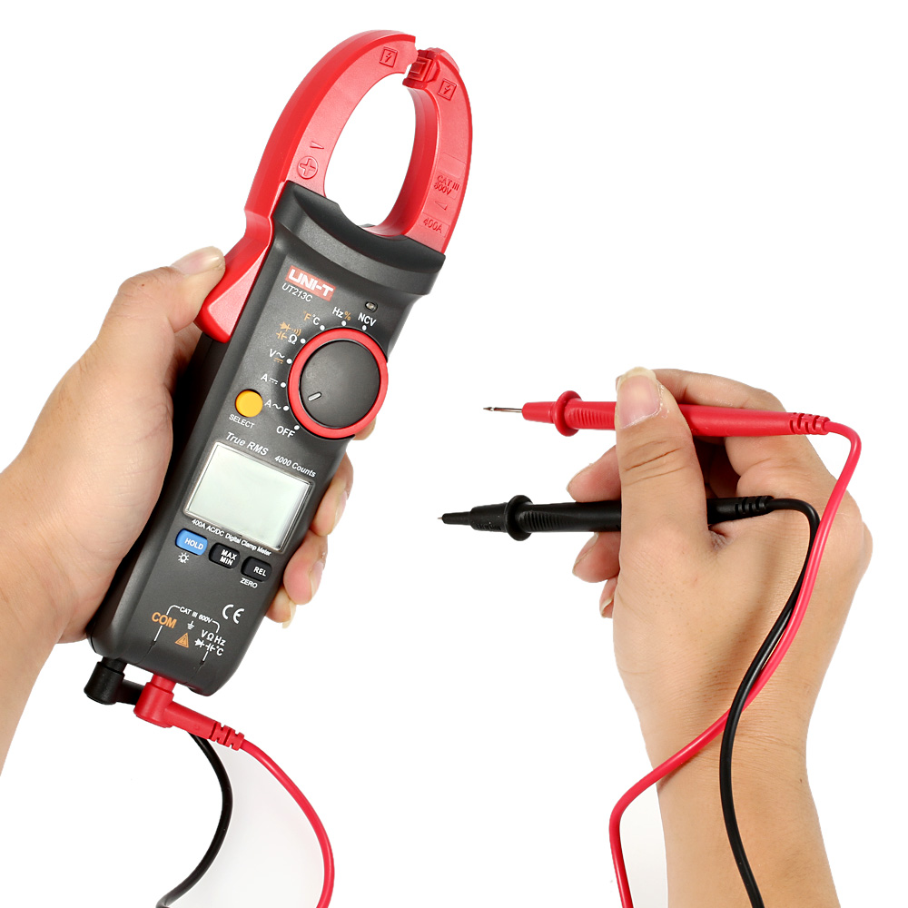 Digital Clamp Meter Professional Multimeter AC/DC Voltage Current Resistance Capacitance Diode Continuity NCV Temperature Tester ams8211d pen type digital multimeter dc ac voltage current meter tester continuity diode non contact voltage logic test