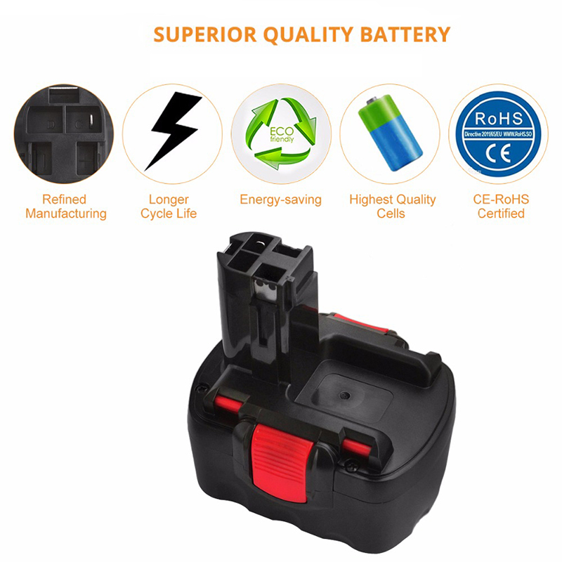 12V 3 0A 3000mah Rechargeable NI MH Battery Portable Replacement Battery Backup Battery For Bosch GDR 12V GLI 12V Tool battery in Rechargeable Batteries from Consumer Electronics