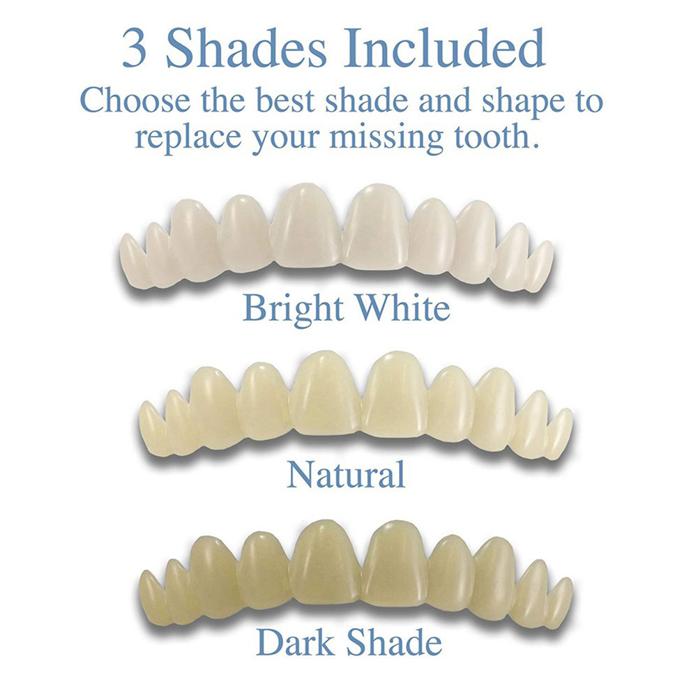 Newest Smile Natural Temporary Replace Missing Bad Teeth Cover Veneers Denture Oral Care Cosmetic Teeth Denture Teeth Top Cosmet 4