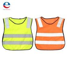 Новые подробности о безопасности детей жилет серый светоотражающие полосы hi vis трафика одежда Бесплатная доставка