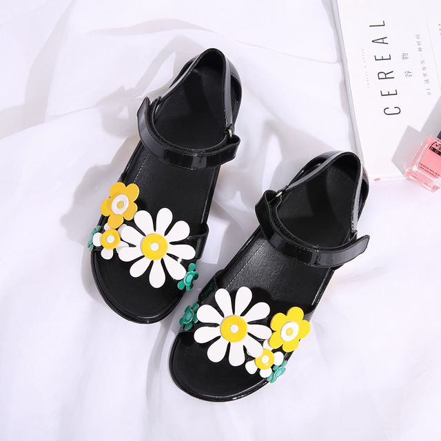 d6d6bb4297da Sweet Flowers Lady Jelly Shoes Women Sandals Flat Summer Shoes Woman Casual Flats  Shoes Sandalias Mujer
