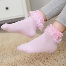 Pearl cotton lace lace Princess socks boneless girls fashion sports socks socks comfort