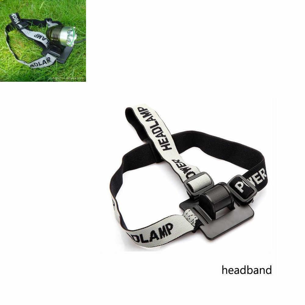 新しいカチューシャヘルメットストラップマウント用 LED ヘッドランプヘッドライト自転車ライト自転車ヘッドライトバンドアクセサリー