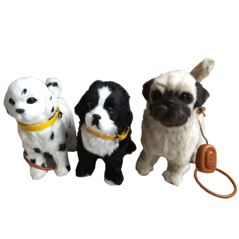 1Pcs Robot Dog Electric Dog Toy Electronic Plush Pet Toy Singing Songs Walk Barking Interactive Toys For Children Birthday Gifts