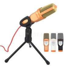 Kebidumei 1 шт., проводной аудио конденсаторный микрофон со стереозвуком и зажимом держателем для ПК, общения, пения, караоке, ноутбука