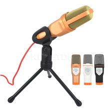 kebidumei 1pc hot  Audio Wired Stereo Condenser SF 666 Microphone+Holder Stand Clip For PC Chatting Singing Karaoke Laptop