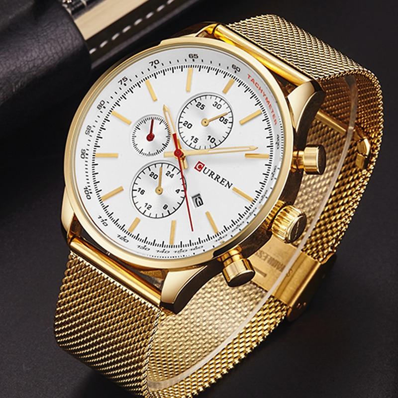 CURREN ძვირადღირებული ბრენდი - მამაკაცის საათები - ფოტო 5