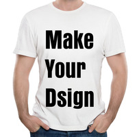 Customized Personalized Men T Shirt Make Your Logo Short Sleeve O Neck High Quality Cotton Casual