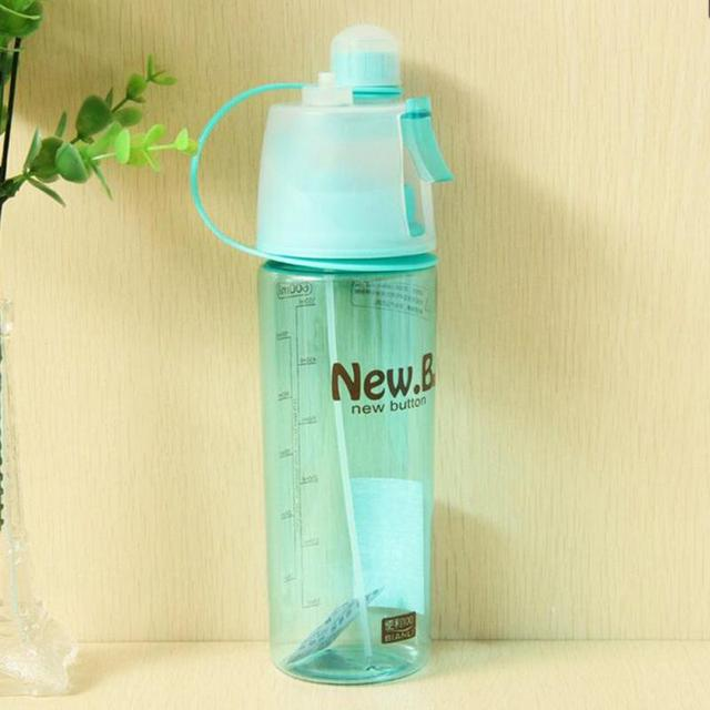 New Design 600ML 400ML  Sports Spray Water Bottle Dual-use Bpa Free Bottle For Water Fashion Plastic Cups