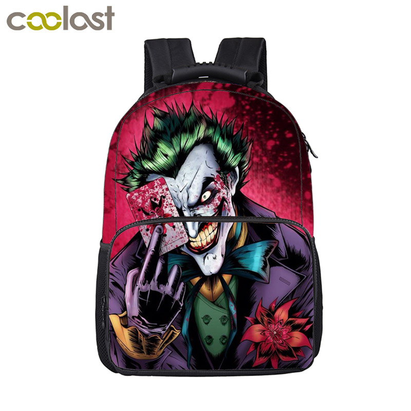 Funny Joker / Evil Clown Backpack Women Men Travel Bags Teenager Boys Girls School Backpack Children School Bags Kids Best Gift funny cartoon game over backpack for teenage boys girls children school bags kids backpack laptop shoulder bags best gift
