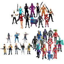 8-12cm fortress 2Battle Royale Action Figure for Children Leader Horse Raven dark voyager Fort Toys Gifts Acrylic Night