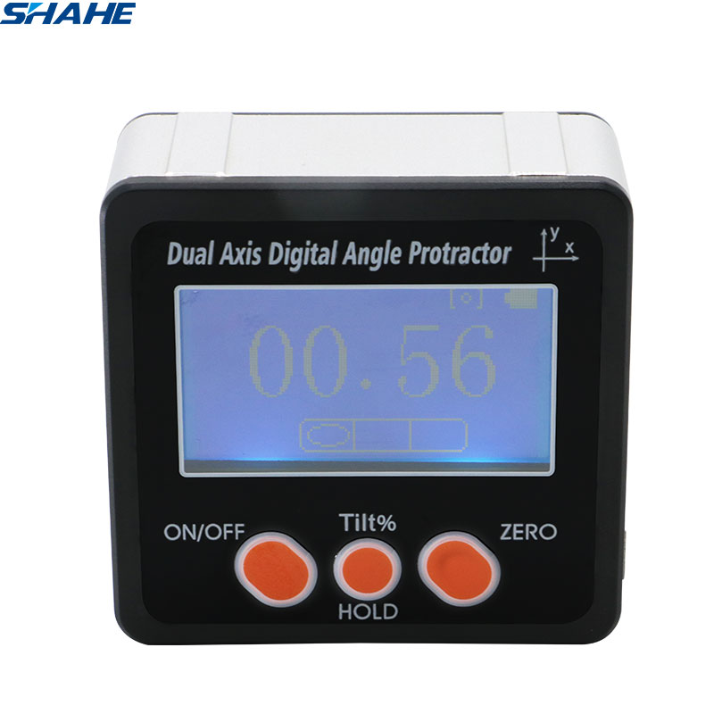 SHAHE Digital Inclinometer Protractor Angle Finder Dual axis Electronic Protractor Angle Gaube Bevel Box With Magnet
