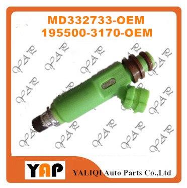 新しい燃料噴射装置(6)用fitmitsubishiモンテロスポーツv73 6g72 3.0l v6 195500-3170 MD332733 1998-2003
