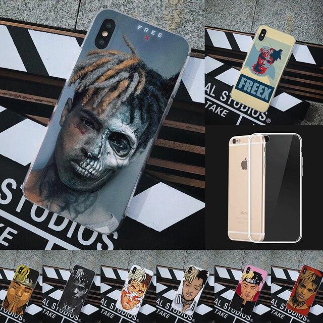 r i p xxxtentacio transparent case for iphone 7 8 plus 6s marvel cartoon soft silicon tpu back