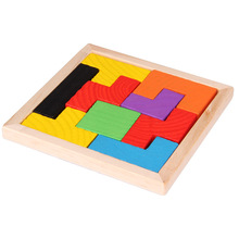 1 Pieces Classic Tetris Puzzles Children's Wooden Educational Puzzle toys Kids Wood Tangram/Jigsaw Board Teaching Resources toys kids wooden montessori material animals jigsaw puzzle educational toys for children wood tangram memory flag teaching aids