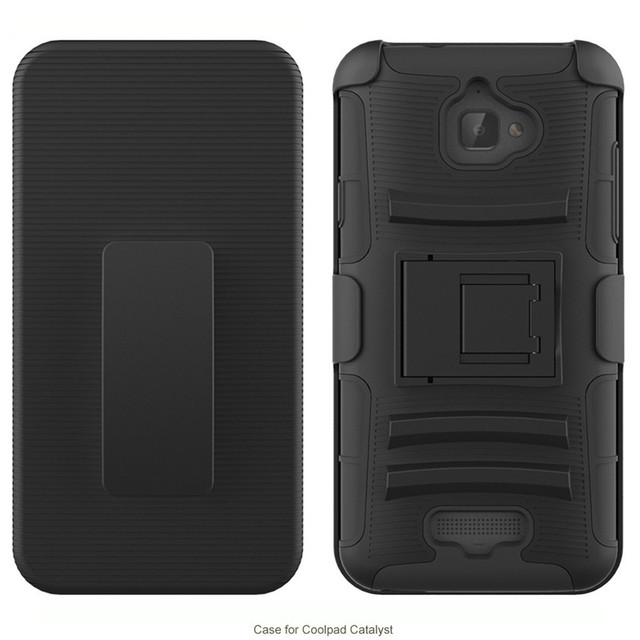 Best price Shockproof Hard Hybrid Case Stand Cover Belt Clip Holster for Coolpad Catalyst 3622A