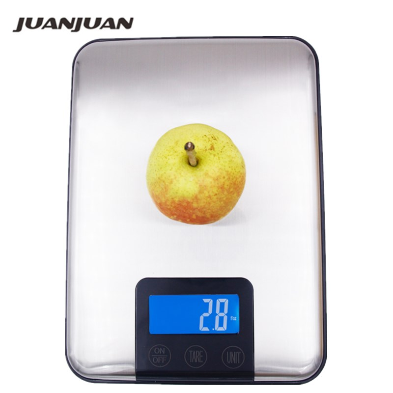 15 kg 1g balanza de cocina Digital 10 kg dieta gran peso delgado de acero inoxidable balanza electrónica pantalla táctil con paquete 40%