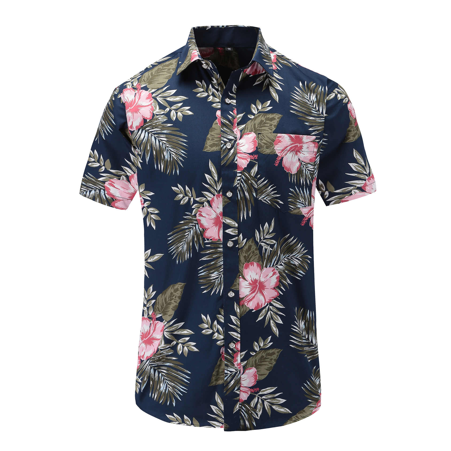 Jeetoo 2019 летняя модная мужская s рубашка Slim Fit с коротким рукавом мужские рубашки в цветах одежда тренд мужские повседневные Гавайские рубашки плюс размер