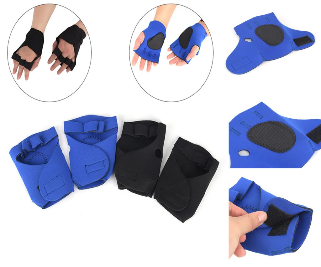 2pcs/lot Unisex Anti Skid Weight Lifting Training Gloves Dumbbell Grips Pads Gym Bench Press Fitness Sports Hand Palm Protector Sports & Entertainment Fitness Gloves