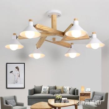 Seni Modern Oak Kayu Liontin Lampu Gantung Kayu Lampu Ruang Makan Restoran Perlengkapan Dekorasi Dalam Ruangan Lampu