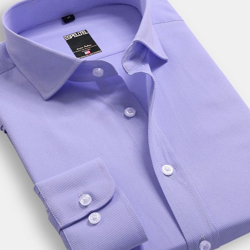 Spring new brand mens shirts man business casual Slim long-sleeved cotton shirt big upscale Oxford mens shirts size S-5XL