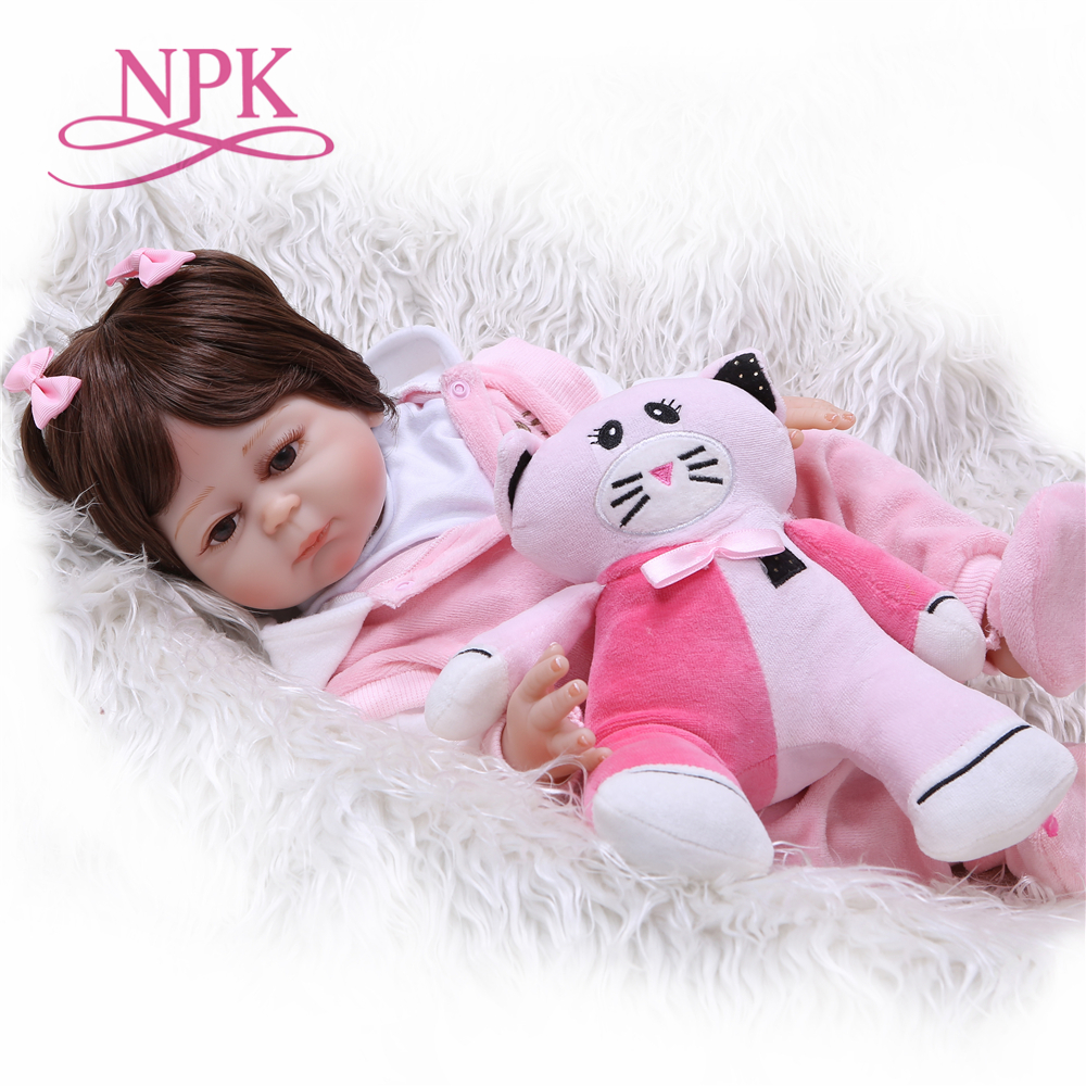 NPK 20 Inch full silicone Reborn Baby Doll Touch Real fashion childrens day gifts toys Baby Doll New DesignedNPK 20 Inch full silicone Reborn Baby Doll Touch Real fashion childrens day gifts toys Baby Doll New Designed