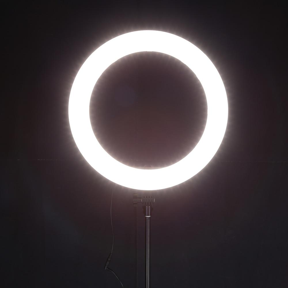 VODOOL Camera Photography Selfie Ring Lighting 55W 240pcs LED Ring Light 5500K Dimmable Camera Photo Video Lamp w/Tripod