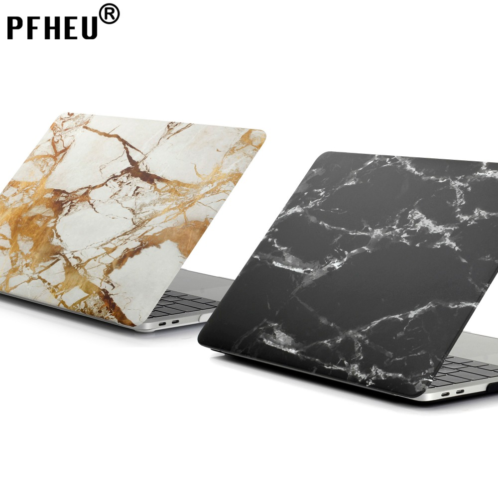 PFHEU,Marble Texture Case Protector Laptop Case For Apple MacBook Air 13 11 inch,Pro Retina 12 13 15,New Pro A1706 A1707 A1708
