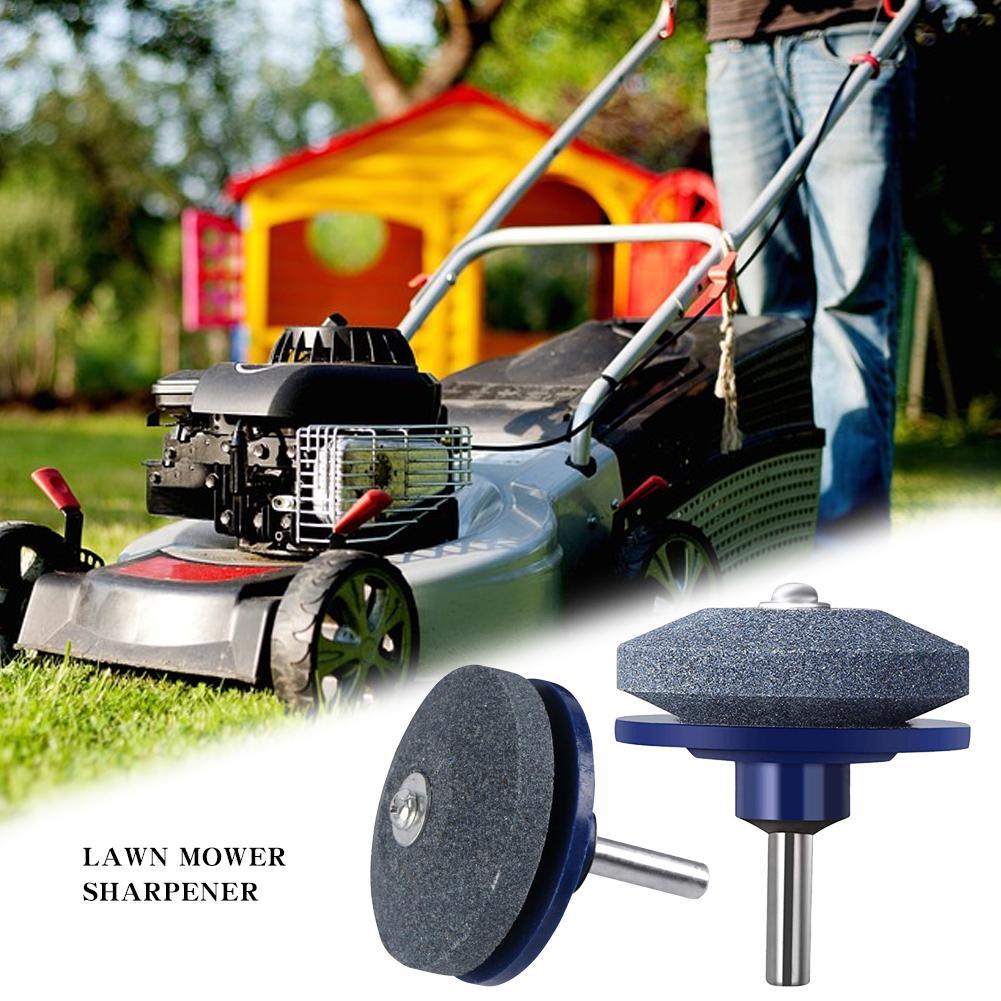Lawn Mower Sharpener Lawnmower Blade Sharpener For Power Drill Hand Drill, 50MM Faster Blade Sharpener Lawn Mower, Universal